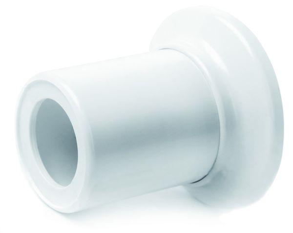 Пара, белая розетка и накладка на трубу для арт. 907 - 908 - 909 - 957 - 958- 959.