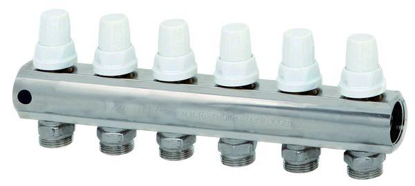 Коллектор обратной линии: Регулировка ручная или терморегулирующая.