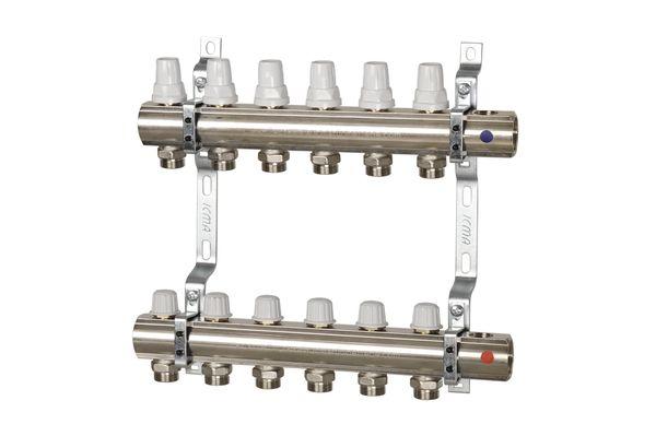Коллектор: регулировка ручная или терморегулирующая.